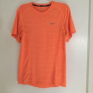 Nike running Dri-fit orange top size small